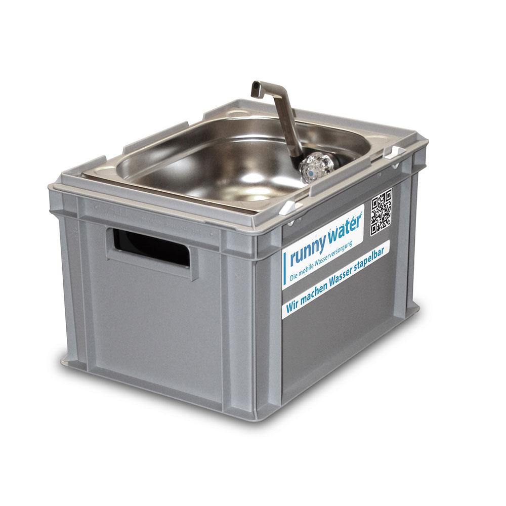 Eurobox 235 waschbecken wb2 anschlussfertig for Kunststoff waschbecken