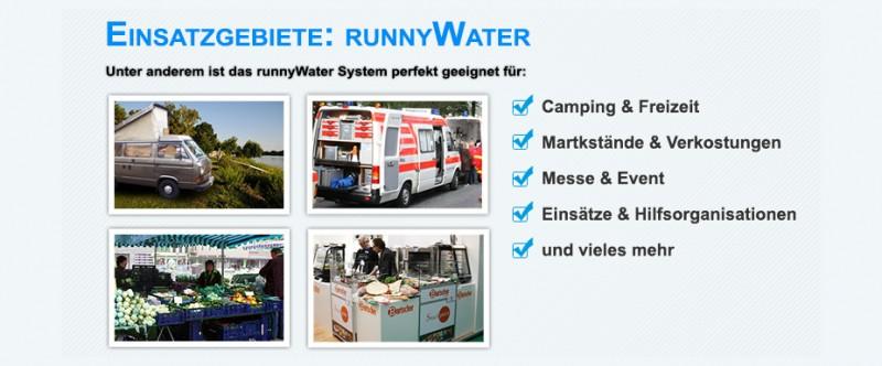 mobile Wasserversorgung Anwendungsbeispiele