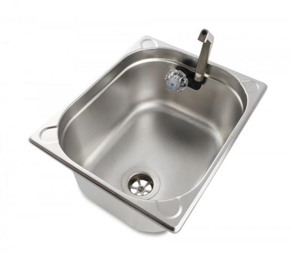 Waschbecken 1/2 GN, anschlussfertig