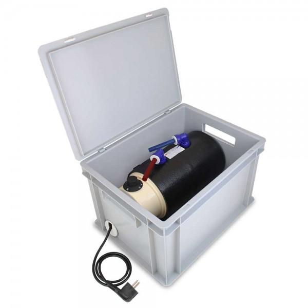 Eurobox 230V Heißwasser Boiler Set, einsatzbereit
